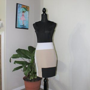 Reed color block dress